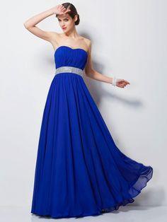 Empire Sweetheart Sleeveless Beading Floor-Length Chiffon Dresses 455120fe9393