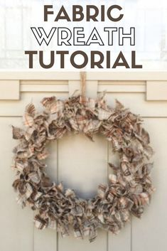 Learn how to make a fall wreath made with fabric scraps. A simple DIY craft tutorial idea that is perfect for hanging on the front door. #thecraftyblogstalker #fallwreath #falldecor #diywreath #handmadewreath #fabricwreath Fabric Wreath Tutorial, Fall Wreath Tutorial, Diy Wreath, Burlap Wreath, Modern Crafts, Diy Thanksgiving, Diy Party Decorations, Easy Diy Crafts, Fall Diy
