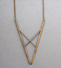 V Brass Necklace | Jewelry Necklaces | Crow Jane Jewelry | Scoutmob Shoppe | Product Detail