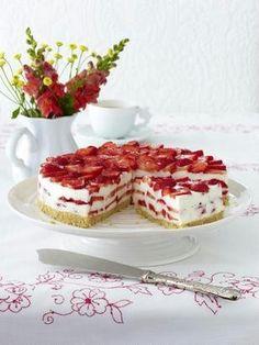 Kuchen ohne Backen: Erdbeer-Philadelphia-Torte