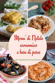 Menù economico di pesce di Natale   La cucina sottosopra Snacks, Cakes And More, Xmas, Christmas, No Bake Cake, Menu, Risotto, Baking, Desserts