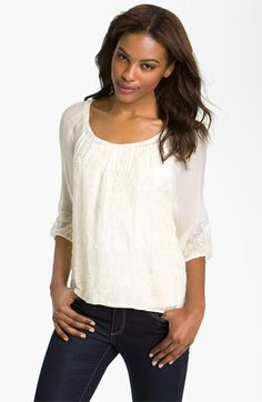 Lucky Brand Patchwork Lace Blouse available at #Nordstrom