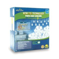 60 LED Pure White Icicle Lights - Snowflake