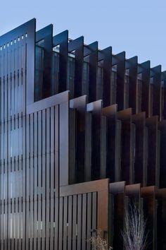 RCR Arquitectes Office building in Hospitalet. Facade Architecture, Beautiful Architecture, Contemporary Architecture, Building Facade, Building Design, Facade Design, Exterior Design, Interesting Buildings, Solar Shades