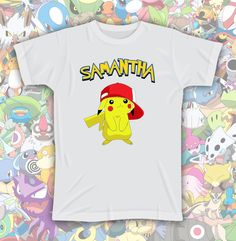 Custom POKEMON Shirt with your Name by JujuApparel on Etsy