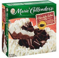 Marie Callender's Chocolate Satin Pie Homemade Chocolate Pie, Chocolate Pie With Pudding, Chocolate Pies, Decadent Chocolate, Dove Chocolate, Chocolate Curls, Pie Dessert, Eat Dessert First, Frozen Desserts