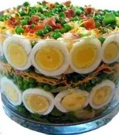Mushroom Puff Salad Recipe - My boss cooking South African Salad Recipes, South African Dishes, Ethnic Recipes, New Recipes, Vegetarian Recipes, Favorite Recipes, Healthy Recipes, Braai Recipes, Popular Recipes