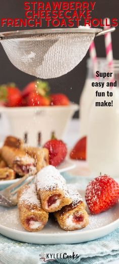 This Strawberry Cheesecake French Toast Roll Ups recipe is SO easy - resulting in a decadent breakfast treat, and very clean plates. Whip these up and watch them disappear! Breakfast Buffet, Best Breakfast, Healthy Breakfast Recipes, Brunch Recipes, French Toast Roll Ups, Roll Ups Recipes, Clean Plates, Strawberry Cheesecake, Cooking Recipes