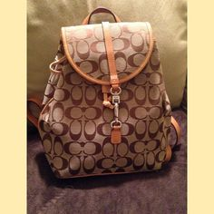 Coach backpack pocketbook. Coach backpack pocketbook. Used for the summer months. Good condition. A little worn on bottom. Coach Bags Backpacks