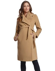 Wool & Cashmere Camel Maternity Coat | Seraphine #MomTobe Maternity Style #MaternityFashion #MaternityClothes
