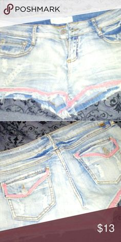 Almost Famous shorts Very cute, kinda short?? worn once or twice Almost Famous Shorts Jean Shorts