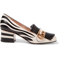 680c0138f75 Gucci Two-tone fringed leather pumps (2