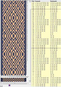 28 tarjetas, 2 colores, repite cada 24 movimientos // sed_434 diseñado en GTT༺❁