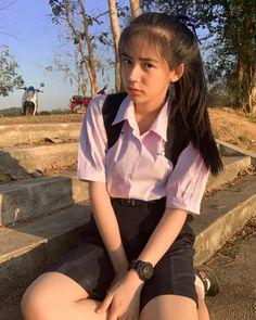 Sassy Girl, Uzzlang Girl, Asian Cute, Cute Korean Girl, School Uniform Girls, Girls Uniforms, Cute Love Wallpapers, Girl Pictures, Asian Beauty
