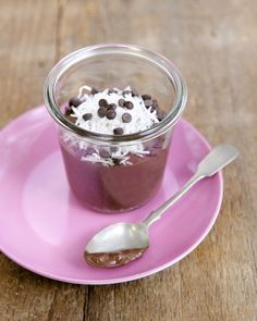 """This Chocolate Chia Pudding is """"instant"""" because the chia seeds are blended fully into the mixture. Delicious! Healthy! Vegan, nut-free, and sugar-free!"""