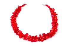Red Coral Petal Necklace from Everbliss Designs