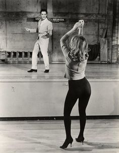Elvis and Ann Margaret. She gave Elvis a run for his money in the pelvis shaking department!