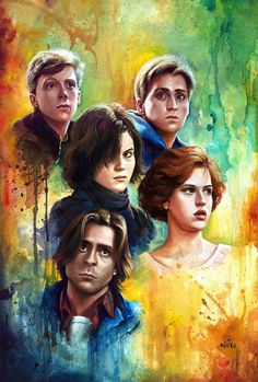 And a new print release due to popular demand! Yes, I'll have a painting in the upcoming John Hughes Tribute show at the new Venice location. I tackled The Breakfast Club, one of my favorite oldie but goodies. 80s Movies, Great Movies, I Movie, Cult Movies, Awesome Movies, Awesome Art, Horror Movies, The Breakfast Club, Breakfast Princess