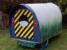 Tiny House Trailer/Camper - bicycle camper - Made from recycled political signs (core-plastic)