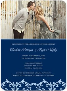 Pretty Pedestal - Signature White Photo Rehearsal Dinner Invitations - Good on Paper - Charcoal - Gray : Front