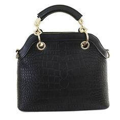 Fashion Style Alligator Print and PU Leather Design Tote Bag For Women Cheap Tote Bags, Womens Tote Bags, The Chic, Leather Design, Crocodile, Style Guides, Pu Leather, Shoulder Bag, Handbags