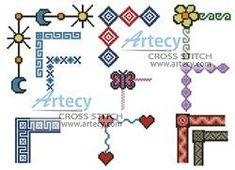 cross stitch pattern Border Collection
