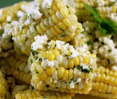 Corn with feta and mint favorite summer side dish!