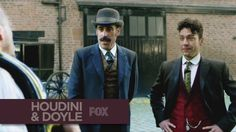 HOUDINI & DOYLE | First Look | FOX BROADCASTING.......................... and here's something about a real life friendship from the life of the creator of my hero.... can't wait... seriously!!!