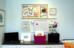 Organized home office space