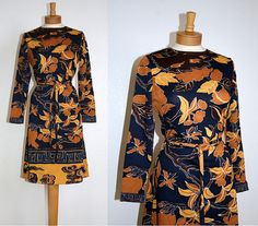 Vintage 60s Long Sleeve Boho Frock // Dress // with by MKRetro, $28.00