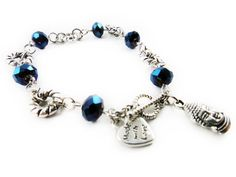 Cute bracelet Buddhist+and+heart+silver+charm+bracelet+by+LeisCollection+on+Etsy,+$15.00