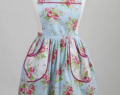 Style tablier de tablier/1940 style vintage / tablier fleuri