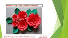 Craft designer Mrs.Vaibhavi Thacker Kodrani's Crafts' tutorial vedio
