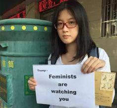 Chinese activist Zheng Churan: 'Hey Trump, feminists are watching you""