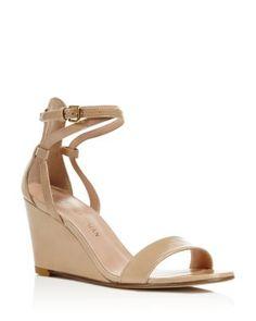 Stuart Weitzman Backdraft Ankle Strap Wedge Sandals | Bloomingdale's