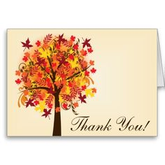 Fall in Love Thank You Greeting Card