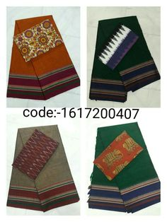 "Grab this Handloom ""Narayanpet sarees"" stood out in simple design in contemporary shades with ""ikat"" blouse Mrp- Rs 955/  (for trade inquiries please contact our whatsapp no  Single / Retail Customer ...please contact 8099433433 B2B/Resellers/Bulk buyers...please contact 8801302000)"