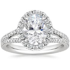 $2250 (setting only) ---- 18K White Gold Fortuna Diamond Ring from Brilliant Earth