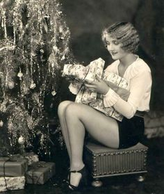 Carole Lombard 1930s vintage Christmas