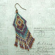 Playing with my Beads...Fringe Earrings #70 & #77