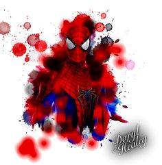 I just made this on photoshop. Spiderman watercolour splash tattoo idea. I'd love to turn this in to a tattoo. #spiderman #tattoo