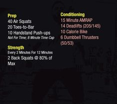 Daily Workouts, Fitness Workouts, Wods Crossfit, Air Squats, White Flag, Training Plan, Macros, Work Outs, Workout Challenge