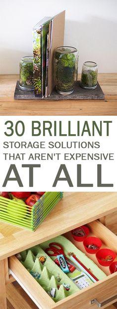 organization tips, storage tips, popular organization ideas, inexpensive storage