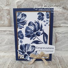 Flower Stamp, Flower Cards, Butterfly Birthday Cards, Get Well Cards, Paper Cards, Stamping Up, Greeting Cards Handmade, Stampin Up Cards, Cardmaking