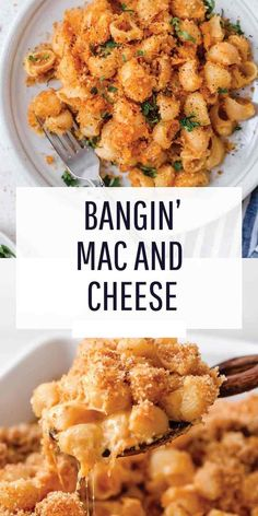 This mac and cheese recipe has a bit of a kick to it and it s the perfect weeknight comfort meal when you are craving pasta and cheese macncheese pasta cheesy comfortfoods comfortfoodrecipe # Quick Pasta Recipes, Macaroni Cheese Recipes, Healthy Recipes, Seafood Recipes, Vegetarian Recipes, Chicken Recipes, Cooking Recipes, Recipes Dinner, Chicken Mac And Cheese Recipe