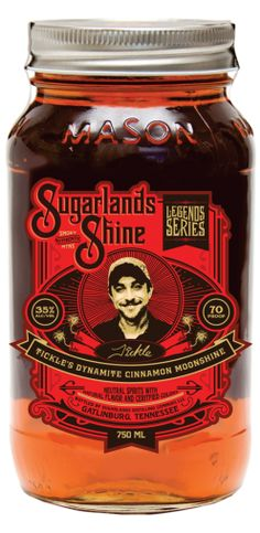 Tickle's Dynamite Cinnamon Moonshine   Sugarlands Distilling Company