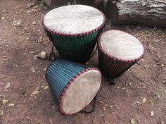 Upcycled drums made from plastic buckets for Playtime in Africa, by Design,Inspire,Play