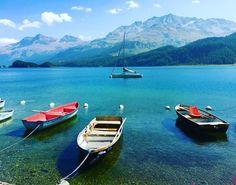 "Igor K.🇮🇹 on Instagram: ""Silsersee👌🏼🌞🙈🇨🇭#engadin #alpen#alps #swiss#switzerland#travel#swiss#europe_pics #awesome#svizzera #myswitzerland #travelholic…"" Swiss Switzerland, Alps, Wanderlust, Europe, Boat, Awesome, Places, Travel, Life"