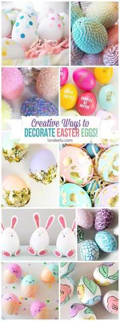 I love all of these Easter egg designs! I want to try them all but those bunny eggs are the cutest! #eastereggs #creativeeastereggs #eastereggdesigns #diyeastereggs #prettyeastereggs #eastereggideas