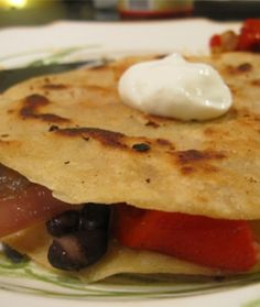 Roasted Red Pepper, Onion, and Cheese Quesadillas
